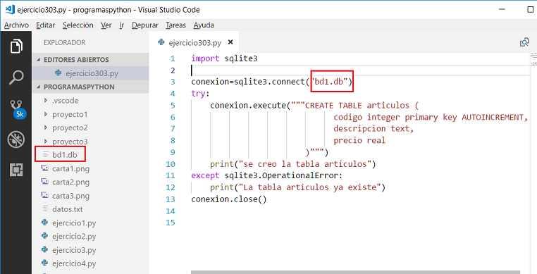 SQLite : Base de datos desde Python